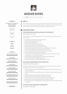 Example Of Cook Resume Cook Resume Writing Guide 12 Resume Templates 2019