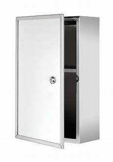 croydex trent stainless steel lockable medicine cabinet