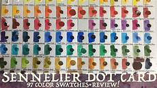 Sennelier Watercolor Chart Sennelier Watercolor Dot Card Swatching Amp Review Youtube