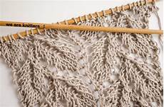 how to knit lace leaf stitch