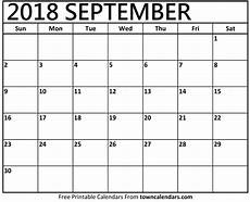 Free Printable September Calendar Printable September 2018 Calendar Towncalendars Com
