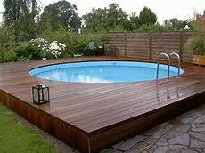Above Ground Swimming Pool Designs Above Ground Pool Decks 40 Modern Garden Swimming Pool