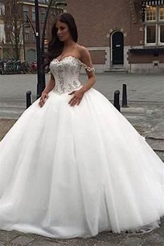 off the shoulder princess wedding dress 2018 sweetheart