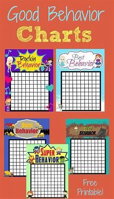 Free Printable Behavior Charts Good Behavior Rewards Charts More Excellent Me