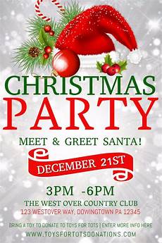 Work Christmas Party Flyer Christmas Party Poster Design Template Christmas Party