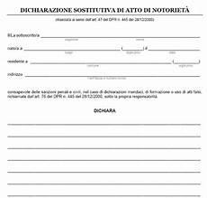 dichiarazione sostitutiva di atto notorio eredi fac simile di atto notorio in pdf da scaricare