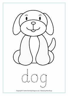 Animal Patterns To Trace Dog Tracing Worksheet Dog Coloring Page Applique