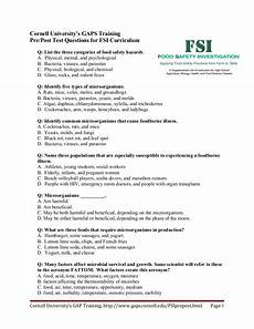 Food Handlers Test Answers Food Safety Curriculum Test
