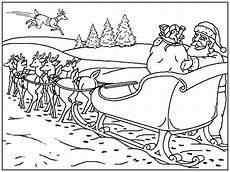 weihnachten schlitten ausmalbilder animaatjes de