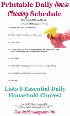 House Chores Schedule Daily House Cleaning Schedule 8 Essential Daily Household