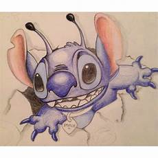 just for colored pencil drawing of stitch from lilo