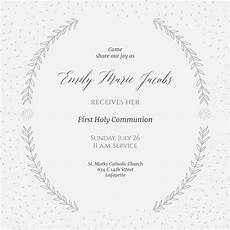 Free Confirmation Invitation Templates Sprays And Speckles First Holy Communion Invitation