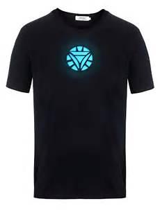 Tony Stark Light Up Led Iron Man T Shirt Tony Stark Light Up Arc Reactor Led Iron Man 2 T Shirt