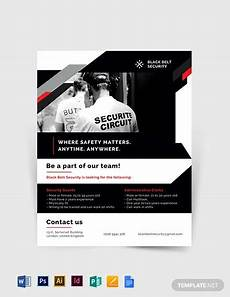 Security Guard Template Security Guard Agency Flyer Template Word Doc Psd