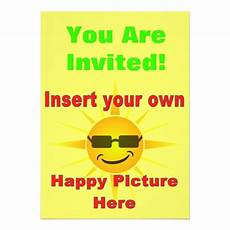 Create Your Own Party Invitations Create Your Own Happy Party Invitation 13 Cm X 18 Cm