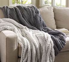 szplh knit chunky cable knit throw blanket for sofa