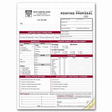 Roofing Proposal Forms Detailed Roofing Proposal Forms 6566 At Print Ez