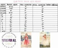 Tutu Dress Size Chart Tutu Size Chart Waisy Tea Length And Full Length Tutu