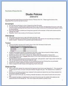 Business Policy Example Good Business Forms Music Memos