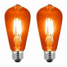 Orange Filament Light Bulb Sleeklighting Led 4watt Filament St64 Orange Colored Light