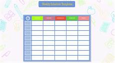 Weekly Schdule 10 Students Weekly Itinerary And Schedule Templates