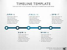 Cool Timeline Projects Five Phase Creative Timeline Slide