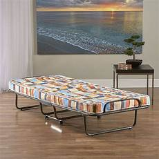 greenhome123 folding roll away bed frame with 4 inch plaid