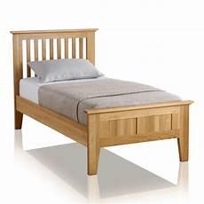 bevel single bed in solid oak oak furniture land