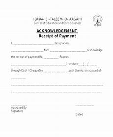 acknowledgement receipt template for payment acknowledgement receipt of payment 8 contesting wiki