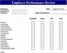 Employee Performance Scorecard Template Excel Employee Performance Review Template My Excel Templates