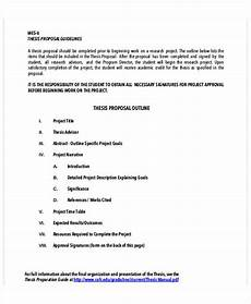 Thesis Proposal Template Word 10 Thesis Proposal Outline Templates Pdf Word Free
