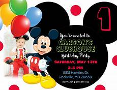 Mickey Mouse Birthday Invites Mickey Mouse Birthday Invitation Template Postermywall