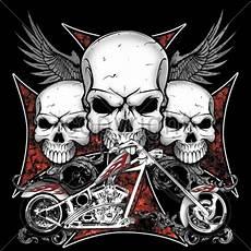 3 Skull Designs Biker Skulls Chopper