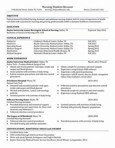 Sample Resumes For Nursing Sample Nursing Student Resume Templates At