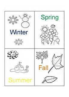 Malvorlagen Jahreszeiten Englisch Jahreszeiten Malvorlagen In