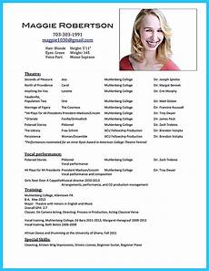 Actor Resume Example Outstanding Acting Resume Sample To Get Job Soon