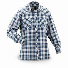sleeve plaid shirt guide gear s western plaid sleeve shirt 613617