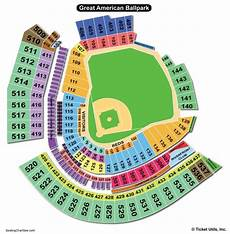 America Seating Chart Great American Ball Park Seating Chart Seating Charts