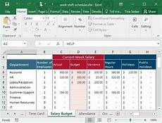 How To Create A Work Schedule On Excel Tips Amp Templates For Creating A Work Schedule In Excel