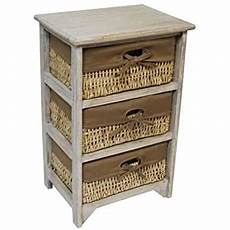 jvl 3 drawer wood unit with lined maize drawers flamed