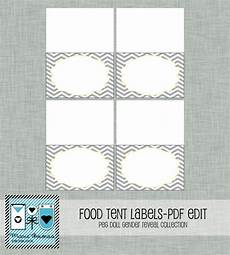 tent cards template retirement gender reveal food tent cards grey chevron diy printable