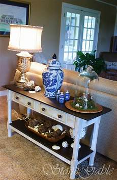 Sofa Table Decor 3d Image by Painted Sofa Table Stonegable
