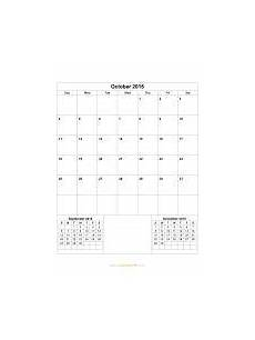 October 2015 Calendar Word October 2015 Calendar Blank Printable Calendar Template