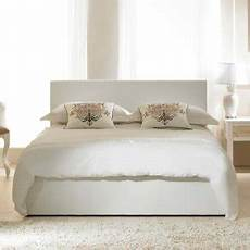 leather bed with deluxe mattress 24 inch headboard for