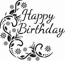 Fancy Lettering Template Happy Birthday Fancy Stencil