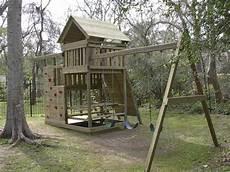 Playset Designs Gemini Playset Diy Wood Fort And Swingset Plans