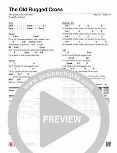 At The Cross Chord Chart The Old Rugged Cross Chord Chart Editable Praisecharts