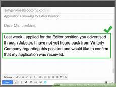 Application Follow Up Email 4 Ways To Write A Follow Up Email For A Job Application