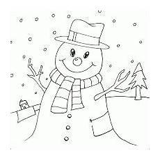 Bunte Malvorlagen Weihnachten Weihnachten Themen Bunte Seiten Druckbare Schneemann