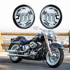 Harley Softail Light 2pcs 4 5inch 6000k Led Passing Fog Light For Harley
